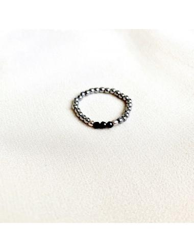 Choker czarny z kryształkiem