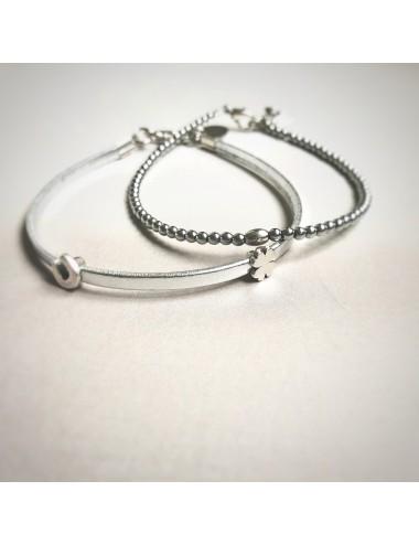Bransoletka SZCZĘŚCIA - srebrna