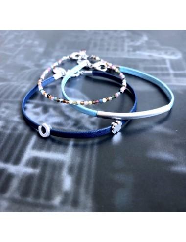 Bransoletka SZCZĘŚCIA - niebieska